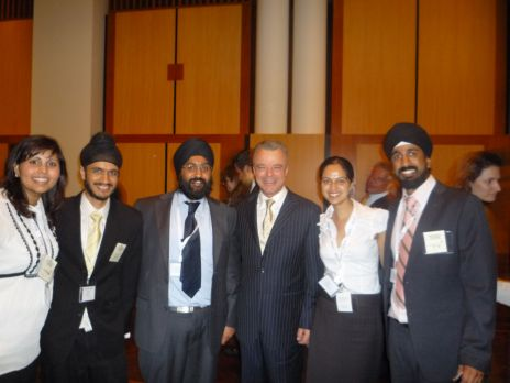 Sikh youth delegation with Brendon Nelson